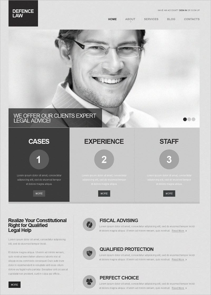 Defence Law Company Joomla Template