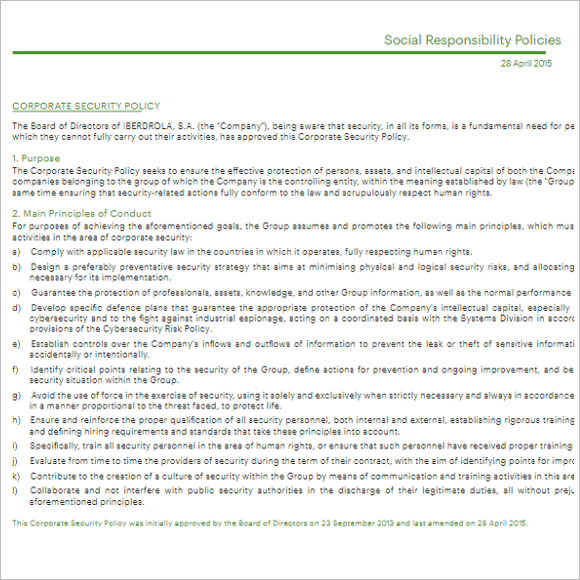 Download Policy & Procedure Template