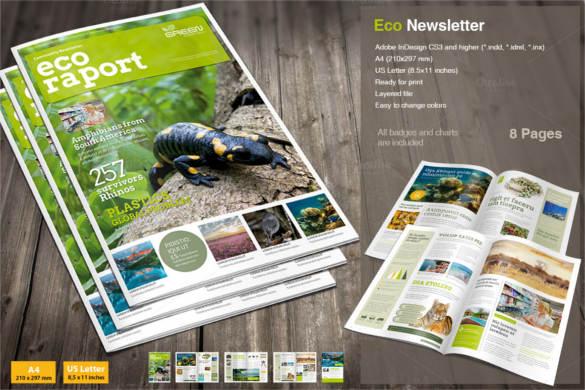 eco-newsletter-zoo-brochure-template