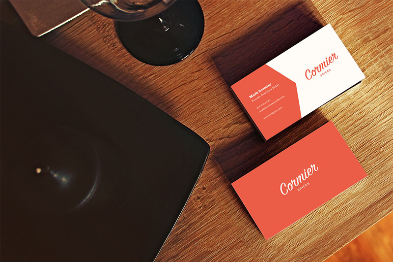 Editable Restaurant Business Card with SimplicityEditable Restaurant Business Card with Simplicity