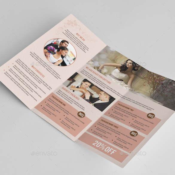 Wedding Brochure Templates Free Premium Creative Template - Wedding brochure template