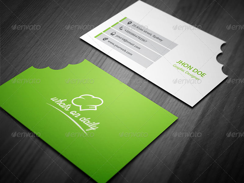 Exclusive Restaurant Business Card
