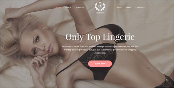 Fashion Lingerie Shop Website Template