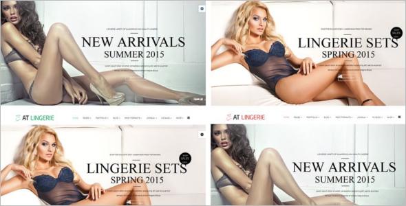 Fashion Lingerie Website Template