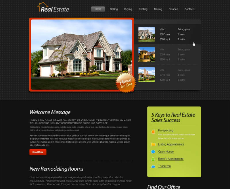 free-html5-template-real-estate-website