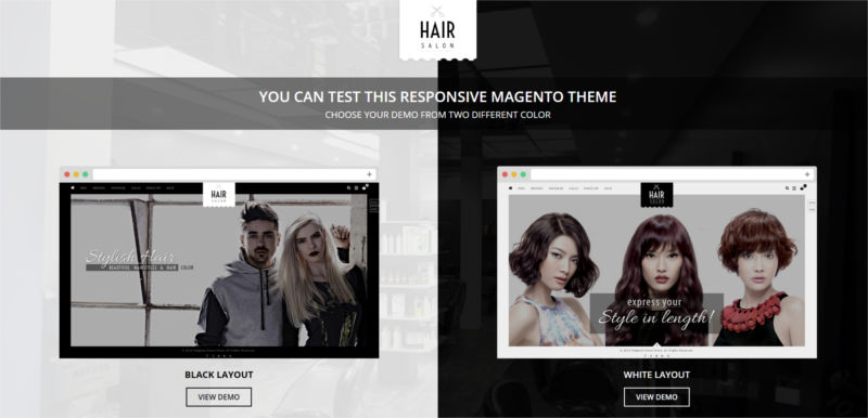 Hair Salon - Magento Responsive Theme
