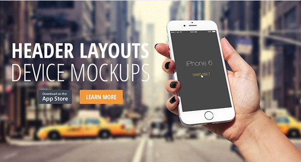 header-layout-iphone-device-mock-up