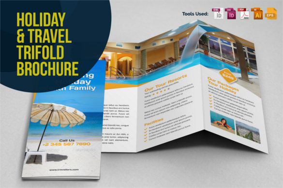 Hotel Brochure Templates Free Premium Templates - Travel brochure template