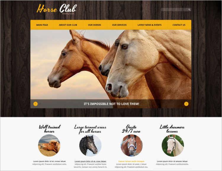 horse-joomla-template