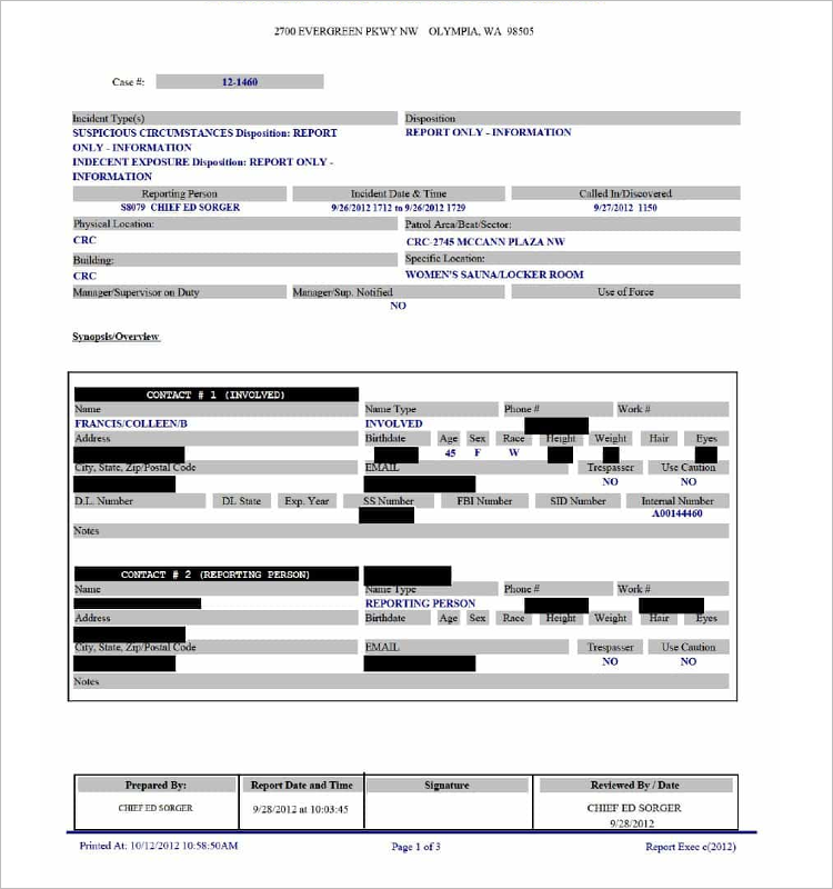 Houston Police Report Form