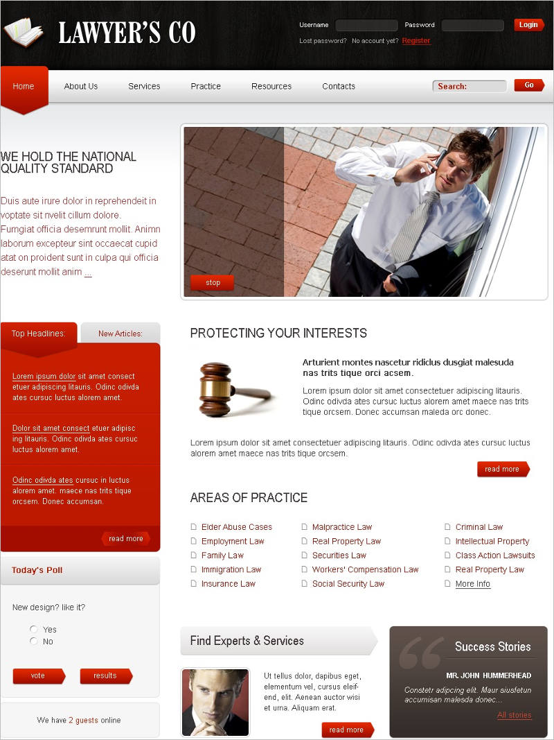 Lawyer Joomla website Template