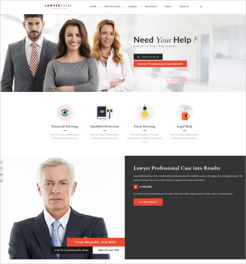 Lawyer and Law Agency Joomla Template