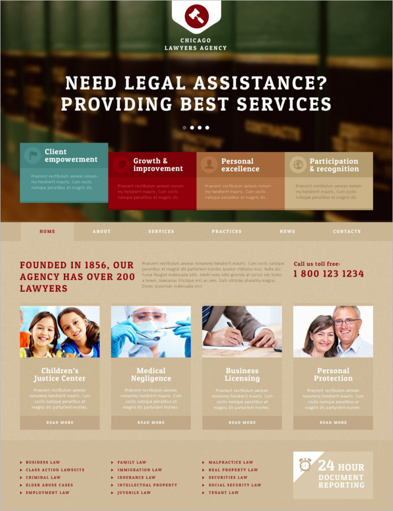 Lawyers Agency Joomla Template
