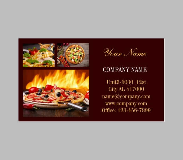 12 catering business card templates free psd designs for Catering business cards templates free download