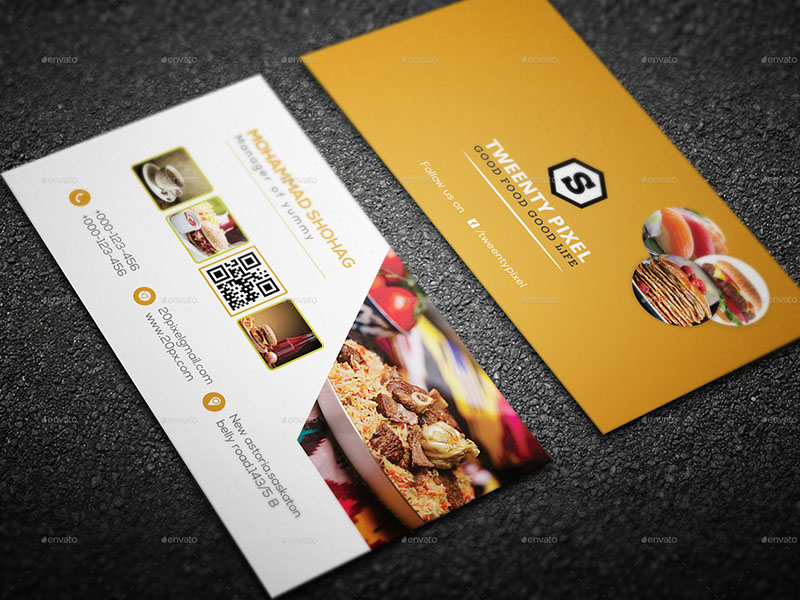 Modern Restaurant Business Card Design