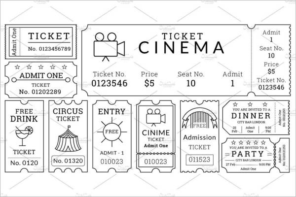 21 free movie ticket templates creative template creative movie ticket templates pack pronofoot35fo Images