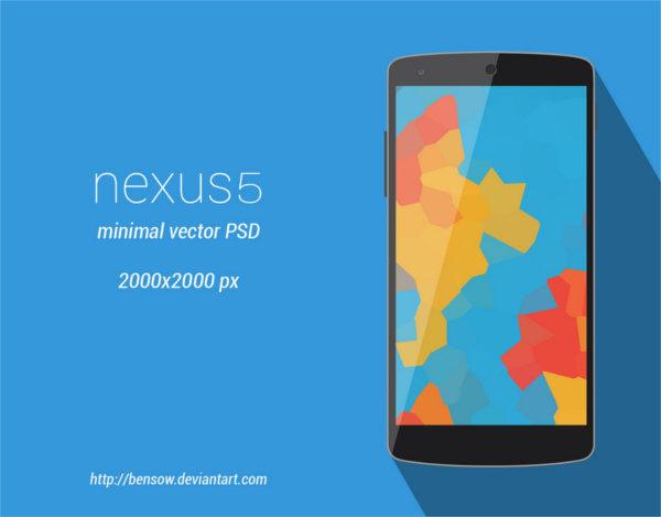 nexus-5-minimal-vector-mock-up