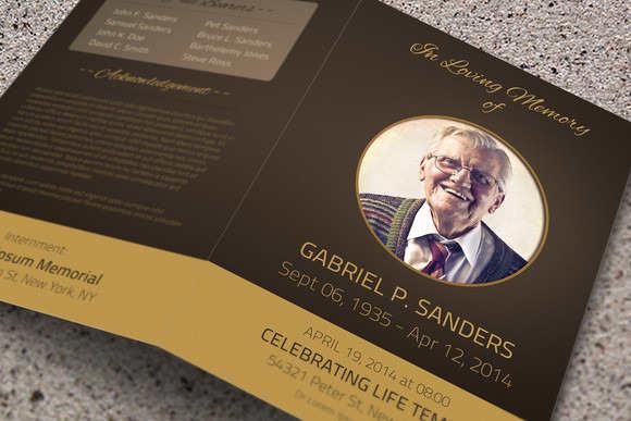 obituary-bi-fold-brochure-template