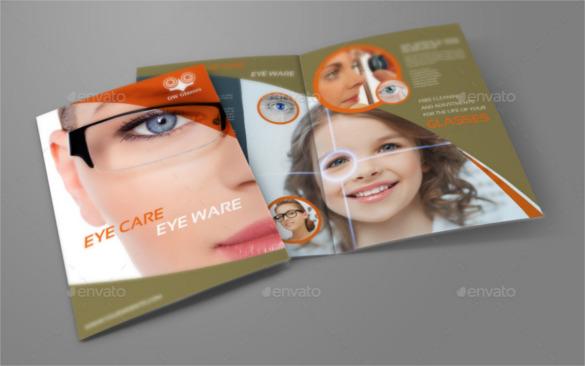 optometrist-optician-bi-fold-brochure-template