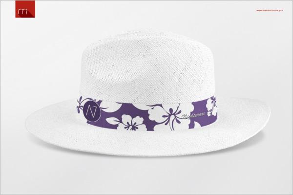 Panama Hat Mock-up PSD Mockup