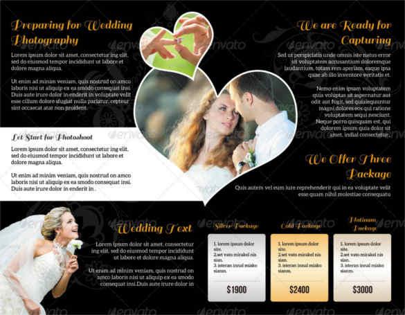 Wedding Brochure Templates Free Premium Creative Template - Wedding brochure templates