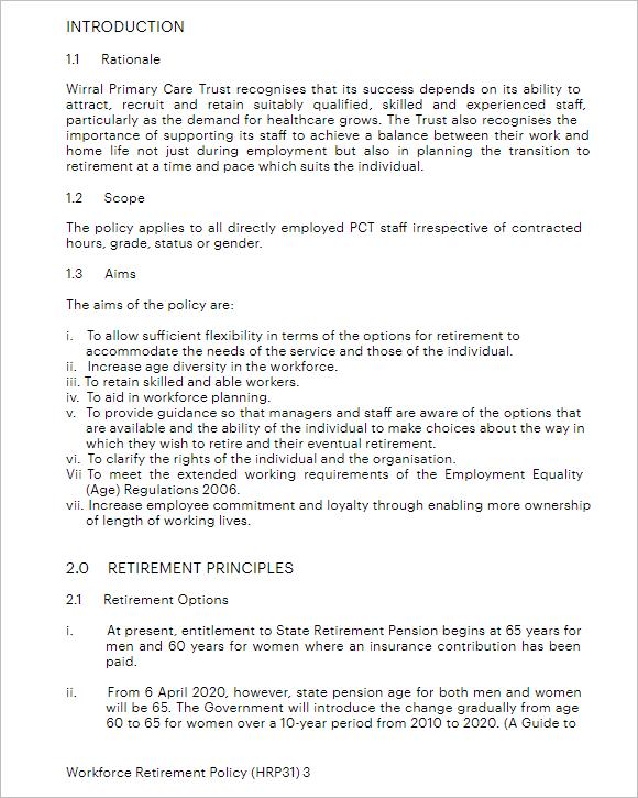 Policy & Procedure Template Microsoft Word