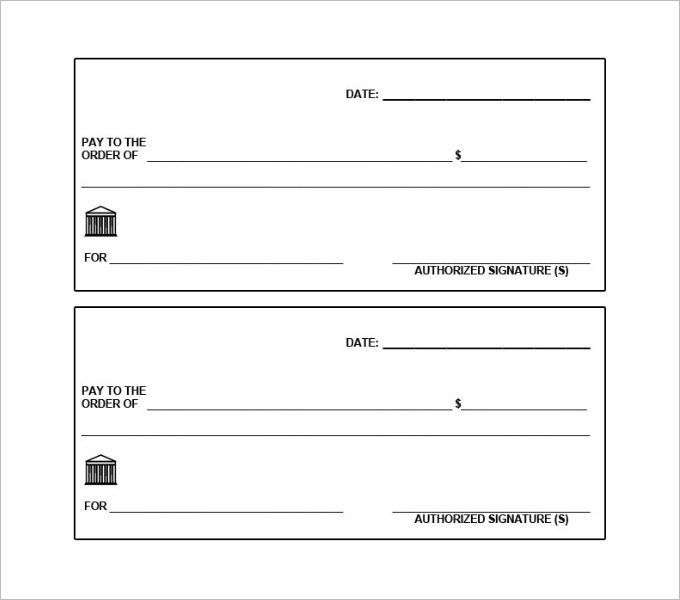 Premium Printable Bank Check Templates