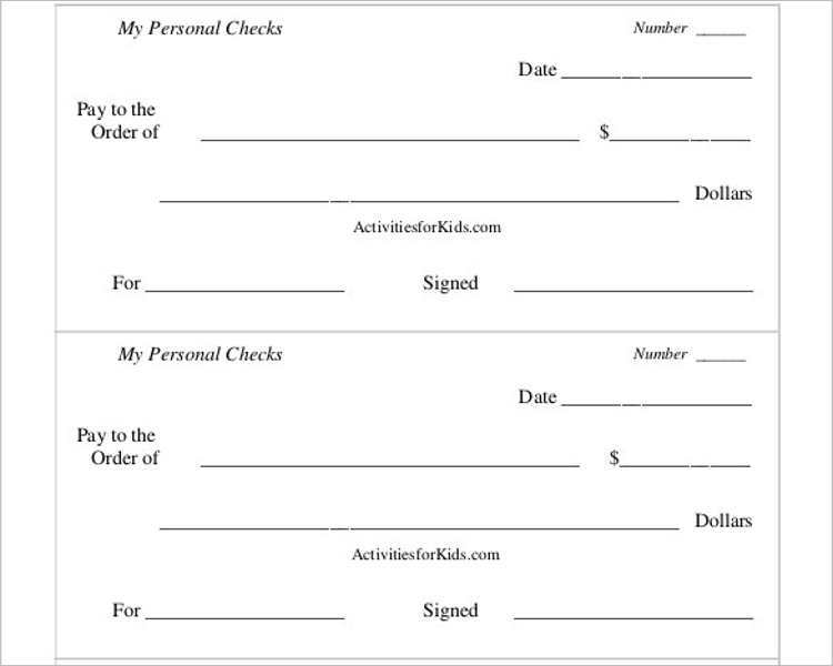 It is a graphic of Vibrant Printable Personal Checks