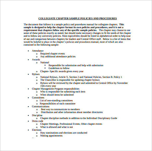 28+ Policy and Procedure Templates Free Word, PDF Download ...  |Policy And Procedure Template Examples