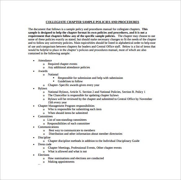 printable-college-policy-procedure-templates