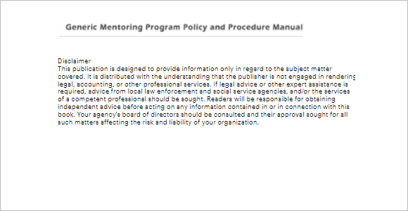 Procedure & Policy Manual Template