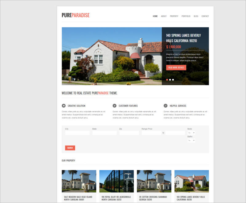 pure-paradise-clean-real-estate-wordpress-theme