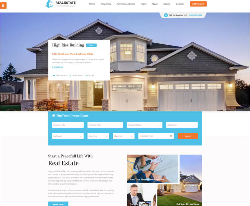 Responsive HTML5 Template for Property Developers