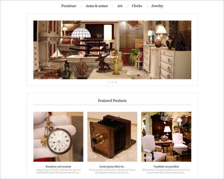 responsive-antiques-store-prestashop-theme-template