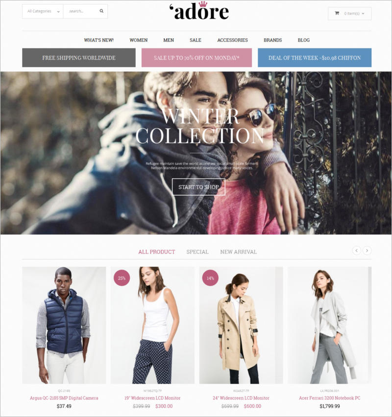responsive-fashion-magento-theme-jewelry-watches-bags-shoes-adore
