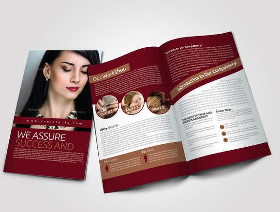 salon-bi-fold-brochure-template