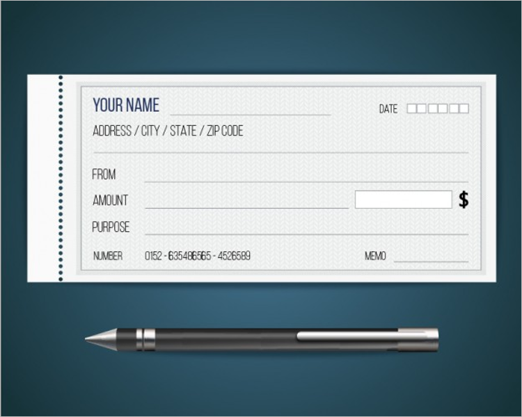 Sample Blank Check Template