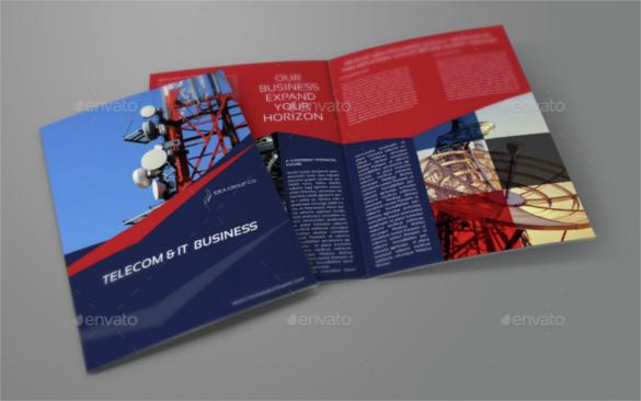 telecom-business-bi-fold-brochure-template