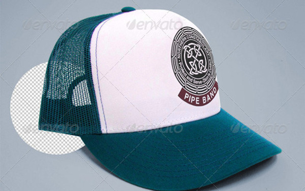 Changable color and logo Trucker Cap Mock-up