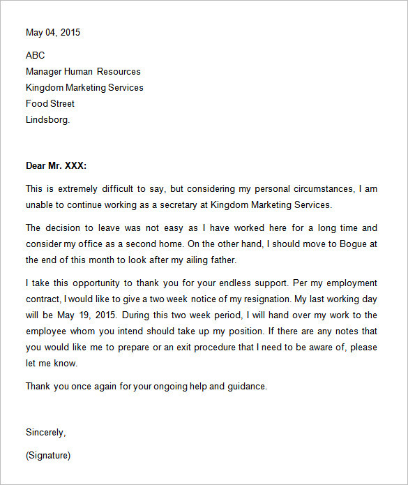 two-weeks-notice-letter-templates-format-doc