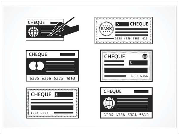 vector-bank-check-set-templates