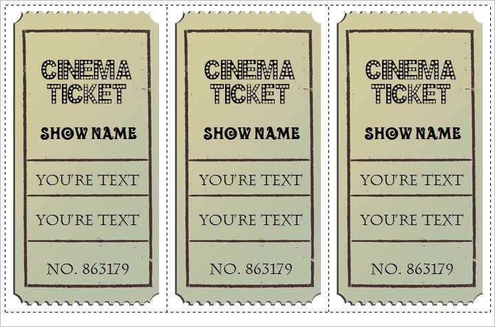 21 Free Movie Ticket Templates Creative Template – Theatre Ticket Template