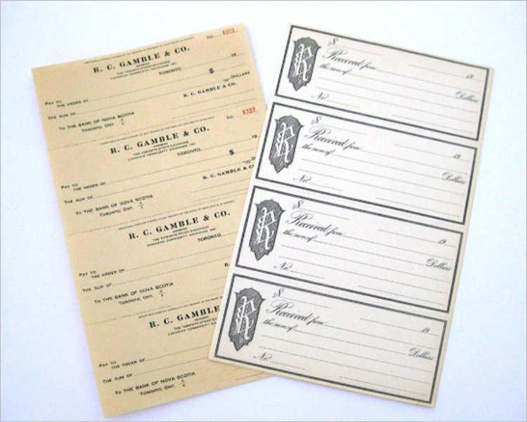 Vintage Check Book Templates