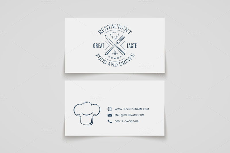 Vintage Restaurant Business Card Template