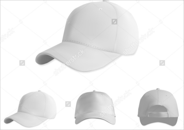 White baseball cap mockup set