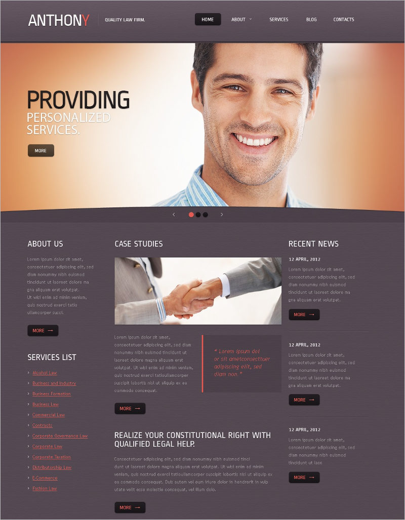 best Lawyer Joomla Template