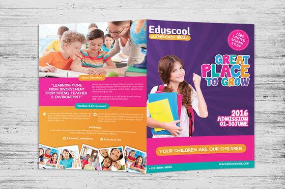 elementary-school-bi-fold-brochure-template