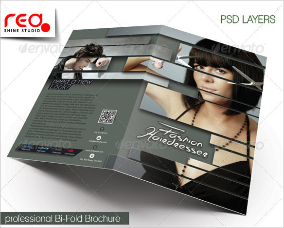stylist-hairdresser-bi-fold-brochure-template