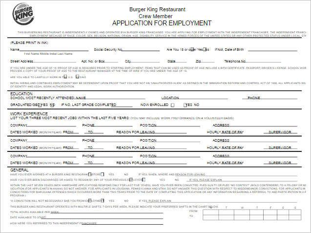 190 job application form free pdf doc sample formats