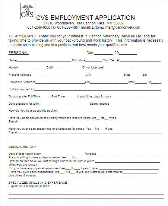 190+ Job Application Form - Sample, Example, Format Documents